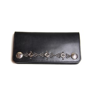 STEADY HIGH/ステディハイ Leather wallet with studs-silver