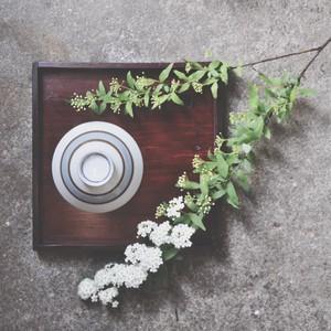 【 retro 飯茶碗 - blue × brawn - 】 昭和 / デッドストック