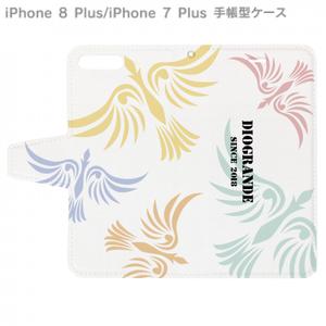iPhoneX 他スマホ手帳型ケース DIOGRANDE -ディオグランデ- オリジナルデザイン (ホワイト) A01