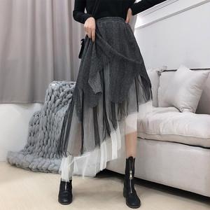 【ボトムス】視線集中ファッション膝上ハイウエスト不規則スカート25245690