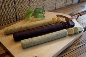自然素材/冷凍クッキー/女子会セット(紅茶・アーモンド・くるみ)/各1本3本セット/冷凍生地/切って焼くだけ/