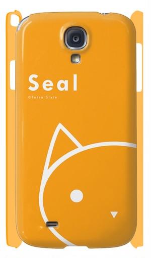 Galaxy S4 ケース しぃる(オレンジ)