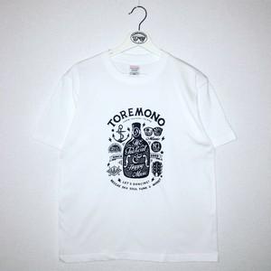 【NEW】Hand Print T-Shirts (White)