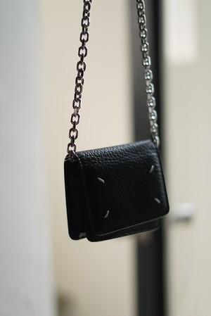 Maison Margiela / small leather chain wallet(black)