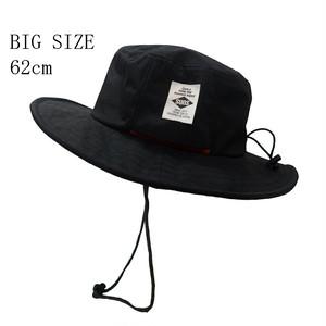 ※BIG SIZE※ シワ加工撥水アドベンチャーハット[H-051B BLACK]