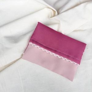 【バッグに入っていたら女子力高い】ピンクのポケットティッシュケース