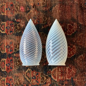 Antique Opalescent glass shade Teardrop