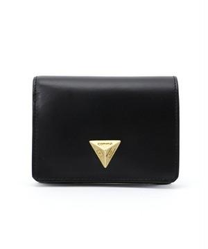 【B品 SALE50%OFF!】■Triangle Motif Wallet■三角モチーフ二つ折り財布(ブラック)