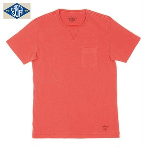 NS002006 USA COTTON CREW NECK Tee / RED
