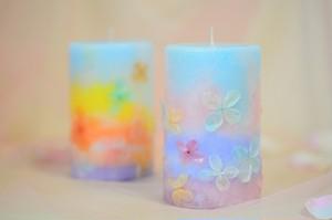 花・花 ピンク&ブルー  ラベンダーの香り