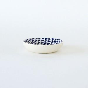 so many years DROP Dish Sサイズ φ9.5 × H2cm 磁器 皿 器 しずく ドット柄 北欧風 ブルー ホワイト