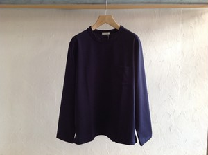 "niuhans""Hevyweight Cotton Pocket L/S Tee Navy"""