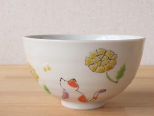 三毛猫みーちゃん ごはん(春) 茶碗