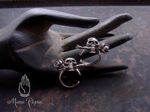 Ear Cuff- Skull & Rose /髑髏と薔薇のイヤーカフ片耳用 *即納可