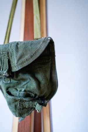 """【1940s】""""US Army"""" Military Pouch / v631y"""