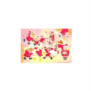 【選べるポストカード3枚セット】No.143 干支勢ぞろいクリスマス