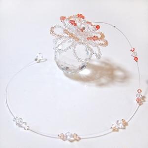 サンキャッチャー『光の花』4cmスワロフスキー・クリスタル