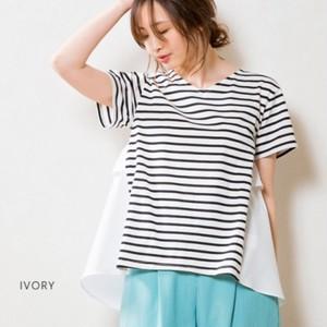 SONO/バックフリルTシャツ