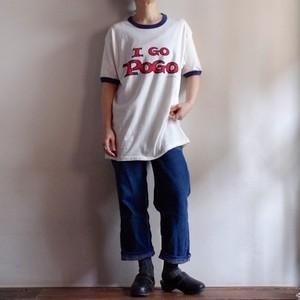1970-80s Hanes Ringer T-Shirt / I GO POGO / ヘインズ ヴィンテージ リンガー Tシャツ