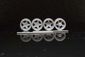 8.5mm WORK GT5-3P タイプ 3Dプリント ホイール 1/64 未塗装