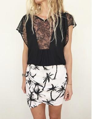 Ema Tesse Drew Skirt Palms size1