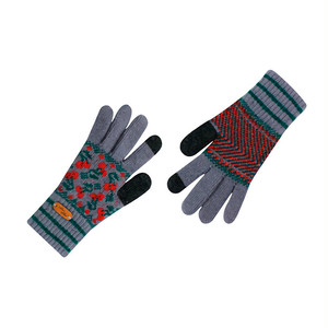 Touch screen gloves - Dancing Cherry (GRAY)