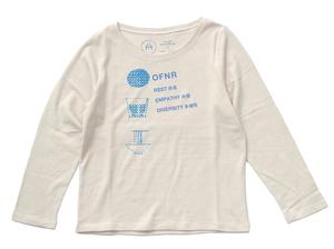 纏うもの05:CookieT ボートネック長袖Tシャツ|生成り|レディース