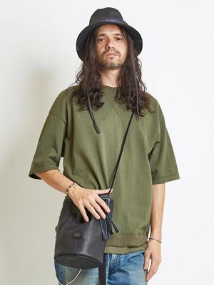 EGO TRIPPING (エゴトリッピング) LAYERED TEE レイヤードTシャツ / OLIVE 663851-64