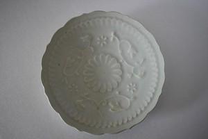 マルヤマウエア|陽刻皿 青瓷