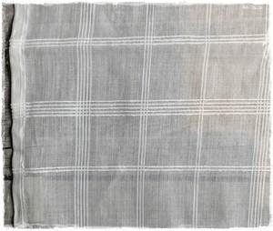 【特価品】コットンオーガンジー(110巾)チェック柄 アイボリーホワイト ♥ 在庫限りセール中!