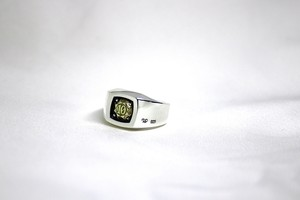 LaJewel SquareSignetRing Brass「the Month of birth Number 1 to 12」