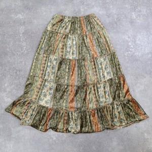 Flower retro design skirt