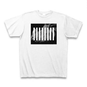 黒とサイの白とストライプなアニマルTシャツA