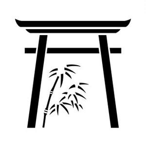 鳥居に竹 aiデータ