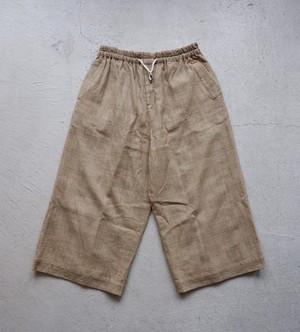 YUTA MATSUOKA シャドーチェックバギーパンツ (beige-shadow check) [ym20s10wpbe]