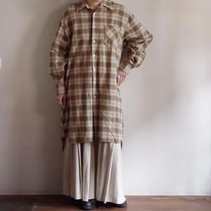 Long Flannel Shirt / ロング フランネル シャツ