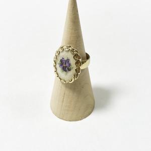 Vintage Petit Point Ring