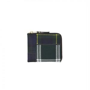 WALLET COMME des GARCONS【ウォレットコムデギャルソン】Tartan Patchwork Coin Case (GREEN)