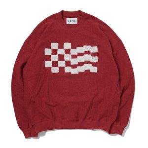 NOMA t.d Checker Emb. Sweat(RED)