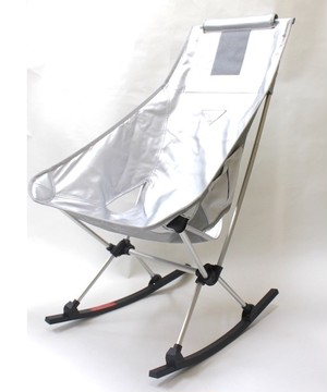 【SALE】 Monro × HELINOX モンロ ヘリノックス CHAIR TWO ROCKER FAKE LEATHER ''SILVER''
