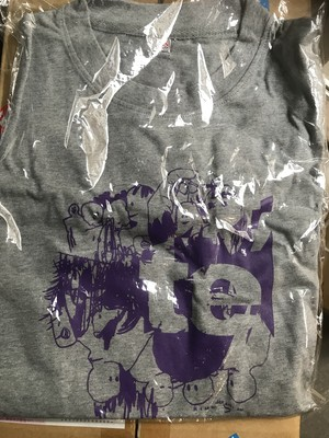 【te'】イラストTシャツグレー(XSのみ)