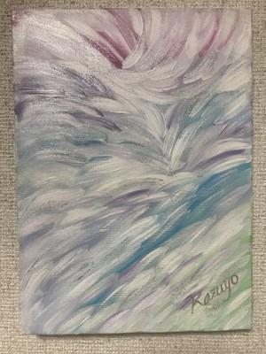 絵画(アクリル画)White Feathers
