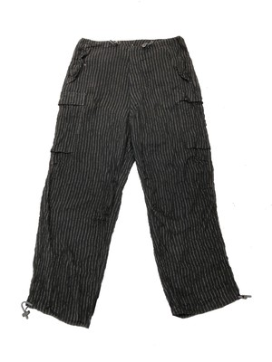 Y'S WIDE STRIPE CARGO TROUSERS