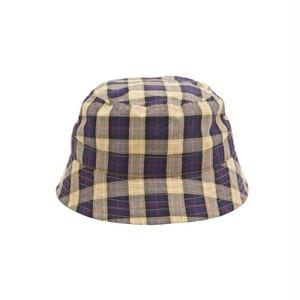 WHIMSY / TARTAN CHECK HAT -BEIGE-