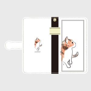 ねこのーと三毛 手帳型スマホケース Android Mサイズ