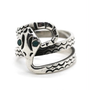 Vintage Sterling Silver & Turquoise Mexican Snake Ring