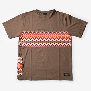 MMA Pendleton Panel Pocket Tee (Brown)