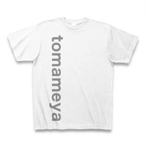 半袖Tシャツ <シンプルな縦ロゴ入り・白>