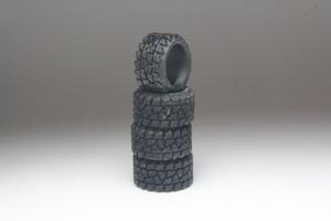 トラック用タイヤ タイプ 1 3D プリント 1/64 黒レジン 未塗装
