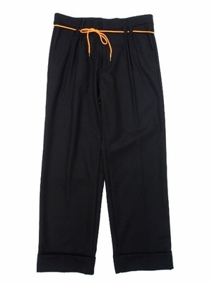 F-LAGSTUF-F WOOL PANTS BLACK サイズL